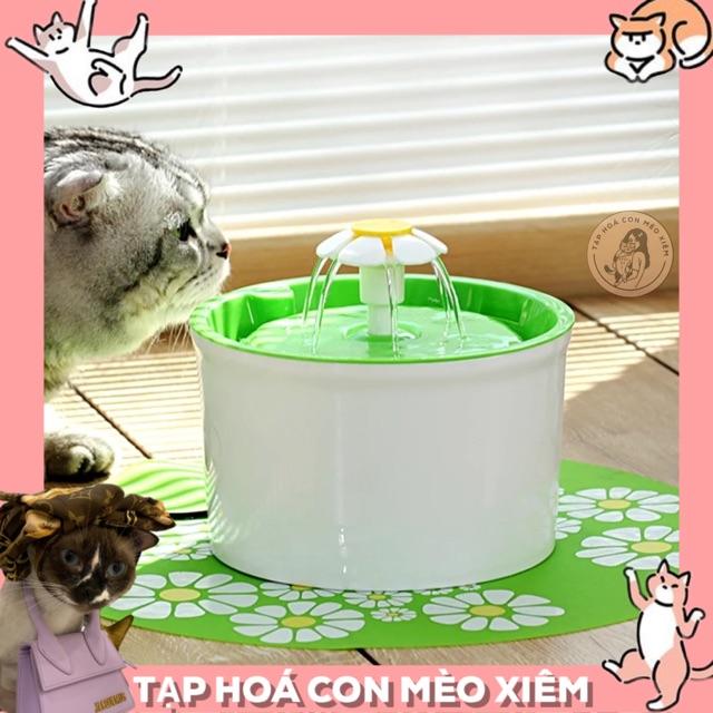 Thảm lót hình hoa của máy lọc nước cho chó mèo- Phụ kiện đài phun nước thông minh