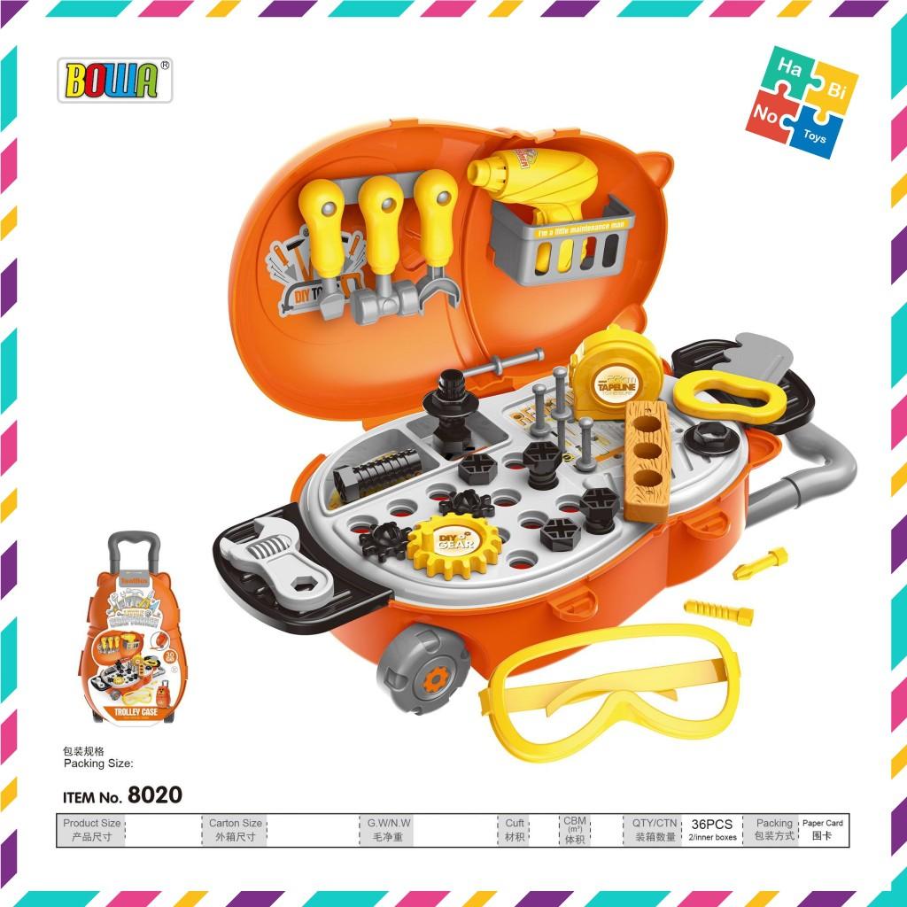 Bộ Đồ Chơi Nhà Bếp Nhập Vai Bowa - Vali Công Cụ Sửa Chữa 29 Món 8020 Cho Trẻ 3+ Habino Toys