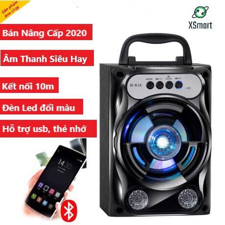 Loa Bluetooth Không Dây GS13 Pro Xách Tay Loại 1 Âm Thanh Hay Siêu Trầm, Led Nháy Theo Nhạc, Super Bass Nghe  EDM, REMIX