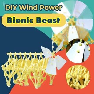 Wind Power Beast Creatives Wind-Powered Walking Walker Model Kit Bionic Mechanical Beast For Kids Adults