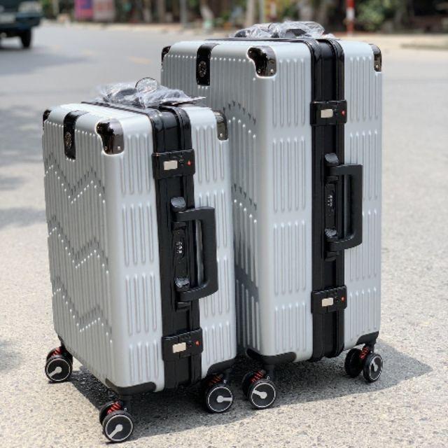 Vali Nhựa cứng khóa sập khung nhôm cao cấp size 24 ing sale