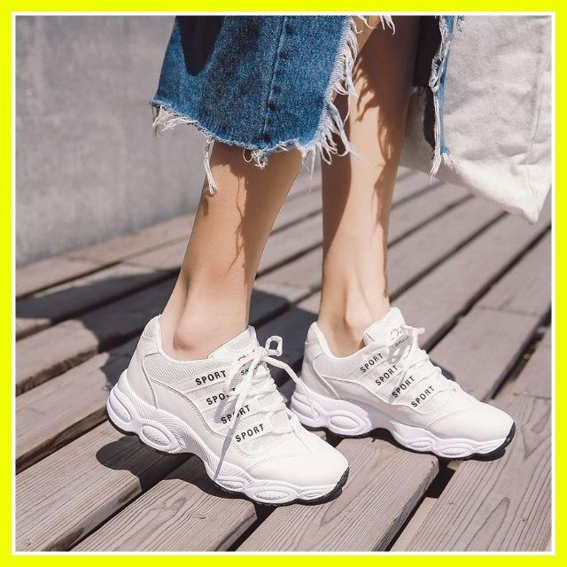 Giày nữ thể thao trắng Ulzzang độn đế 3 phân| Giày thể thao nữ cá tính - 3534373 , 1248445642 , 322_1248445642 , 298000 , Giay-nu-the-thao-trang-Ulzzang-don-de-3-phan-Giay-the-thao-nu-ca-tinh-322_1248445642 , shopee.vn , Giày nữ thể thao trắng Ulzzang độn đế 3 phân| Giày thể thao nữ cá tính
