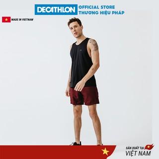Áo thun thể thao tank top nam run dry DECATHLON chuyên chạy bộ, nhanh khô - đen thumbnail