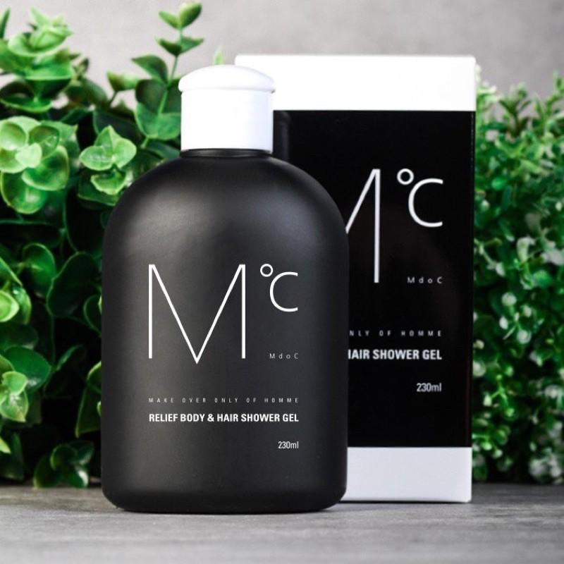 GEL TẮM GỘI 2in1 MdoC -  MdoC Relief Body and Hair Shower  tích hợp đáp ứng chính xác yêu cầu của phái mạnh!