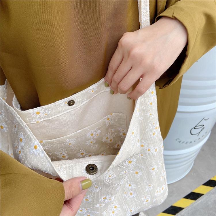 Túi vải canvas phong cách Hàn Quốc nhiều kiểu dáng tùy chọn dành cho nữ