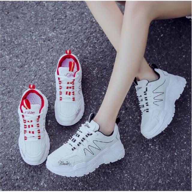 Free ship giày nữ đế độn cá tính/giày thể thao nữ Ulzzang phong cách Hàn Quốc ...