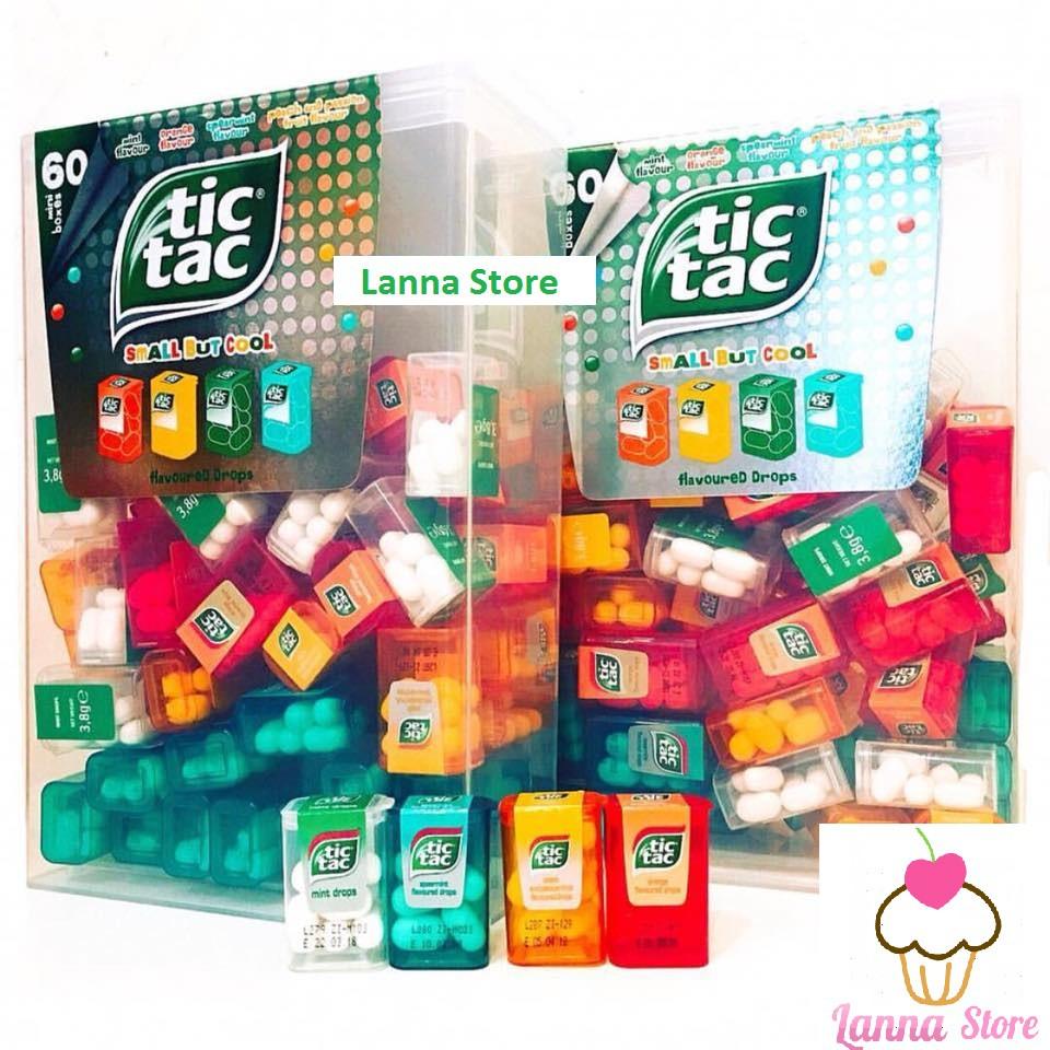 Kẹo ngậm TicTac hộp to (gồm 60 hộp nhỏ bên trong) - hàng xách tay Mỹ