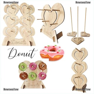 [NS] Wooden Donut Wall Stand Donut Holder Display Boards Table Decor Party Decoration Newswallow