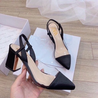 [Mã FASHIONRNK giảm 10K đơn 50K] Sandal giày quai mika 7p gót vuông mạ đồng êm chân mã H8 thumbnail