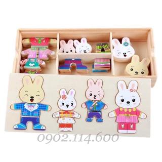 Bộ ghép hình Gia đình Thỏ