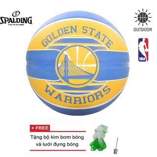Bóng rổ Spalding NBA Team Golden State Warriors (2017) Outdoor Size 7 Tặng bộ kim bơm bóng và lưới đựng bóng
