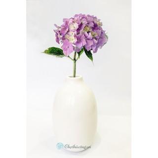 Bình hoa gốm trang trí men sứ cao cấp cổ lọ cắm Hoa để bàn, trang trí C20xR12cm (miệng 3cm) (Màu trắng/nâu đen/rêu)