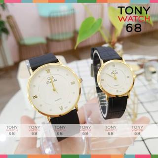 Cặp đồng hồ đôi nam nữ QB viền mạ vàng dây cao su siêu bền chính hãng Tony Watch 68 thumbnail