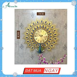 Đồng Hồ Treo Tường Hiện Đại Chim Công Xoè 918