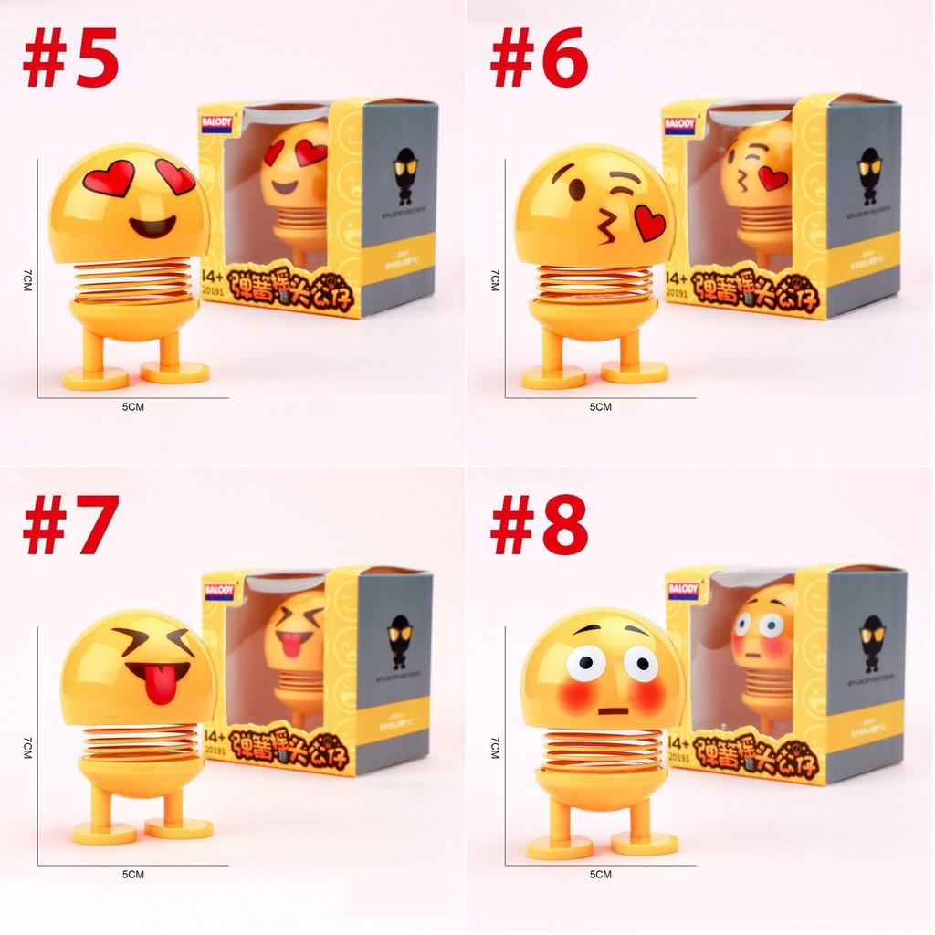 FREESHIP_Bộ 13 Emoji hộp to thú nhún lò xo hình biểu tượng cảm xúc