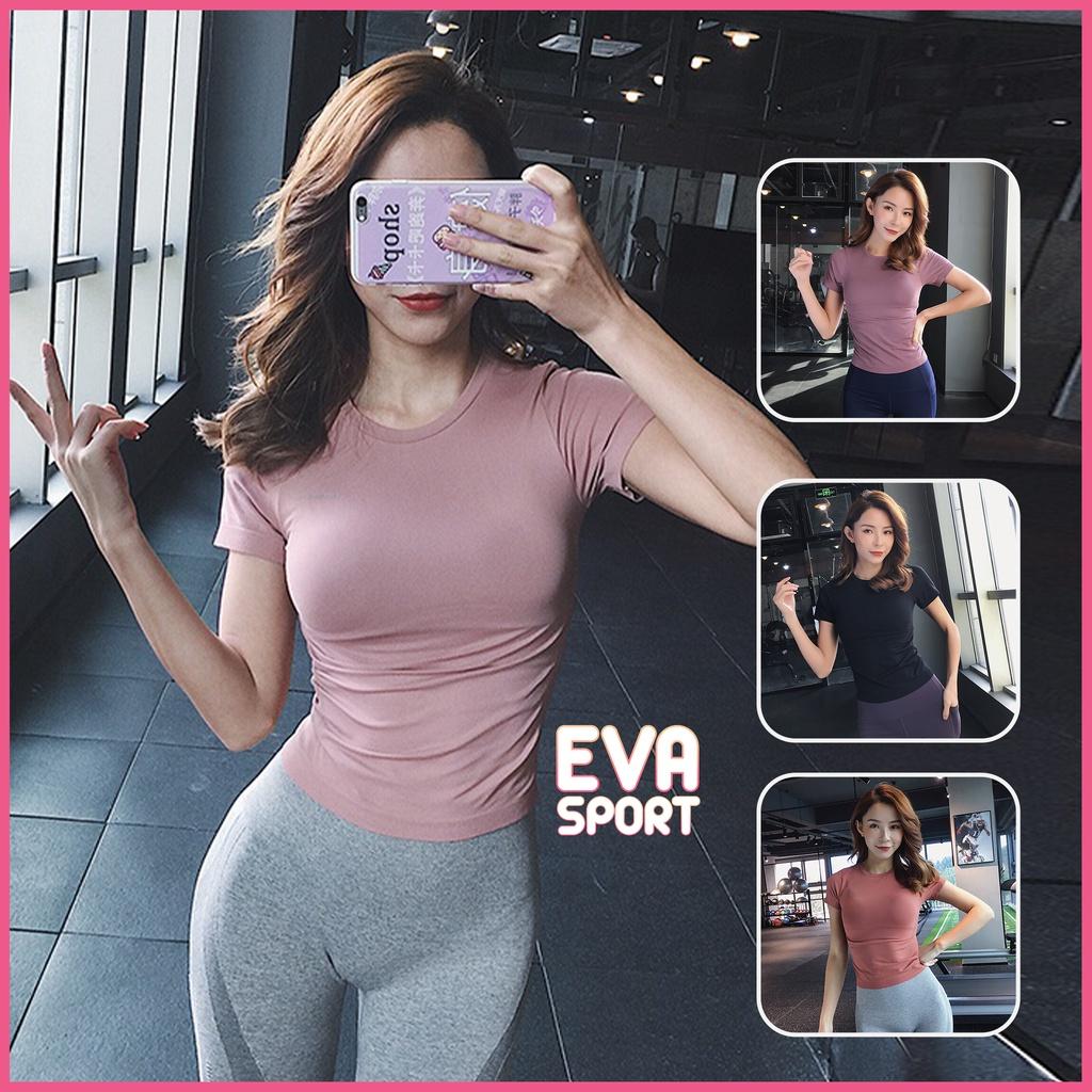Mặc gì đẹp: Dẻo dai với Áo tập gym yoga nữ Body Fit AMI vải Dệt Kim bó sát cơ thể thấm hút mồ hôi EvaSport