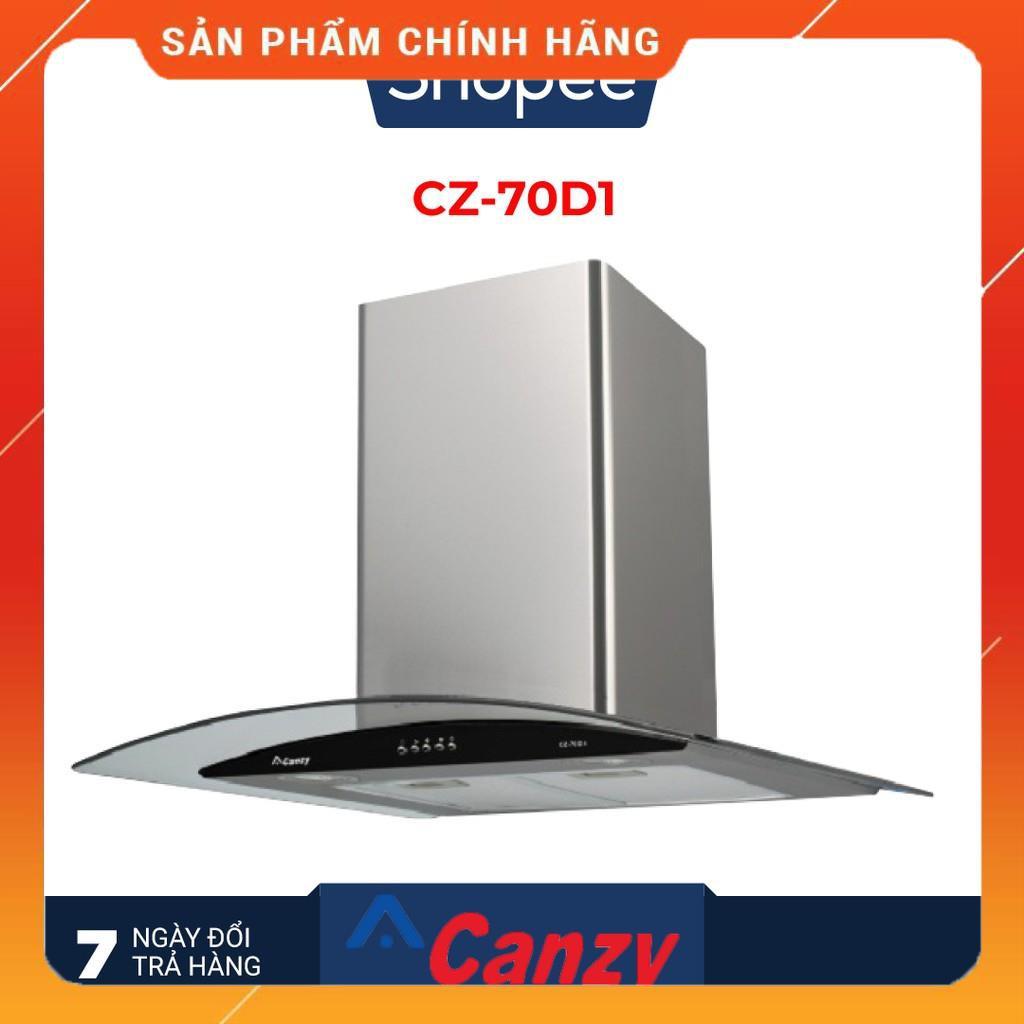 Máy hút mùi bếp kính cong 7 tấc CANZY CZ-70D1 - Hàng chính hãng - Bảo hành 12 tháng