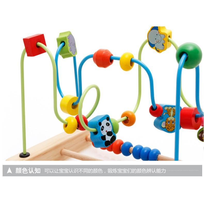 Bộ luồn hạt bàn tính đồ chơi bằng gỗ