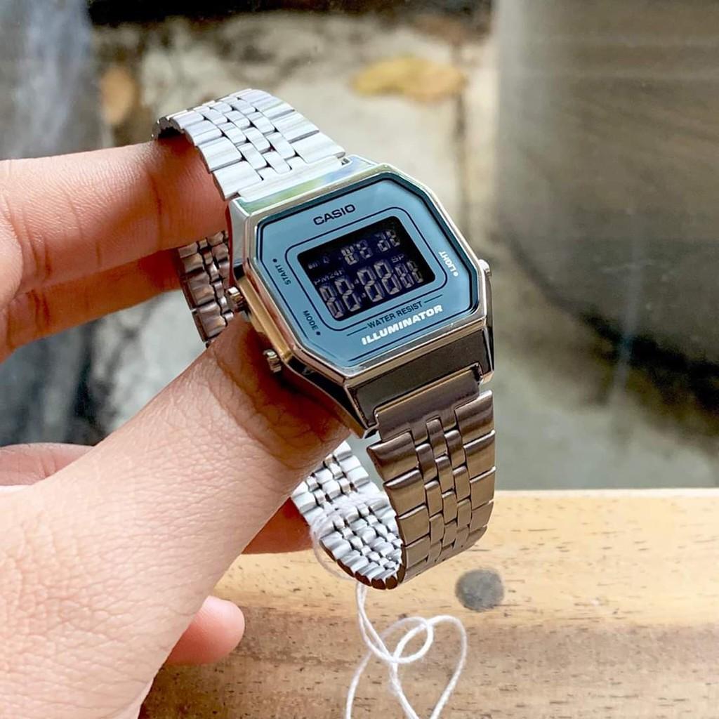 Sản phẩm chất lượng, đồng hồ nữ Casio  La 680 , máy Nhật chính hãng,  điện tử chống nước dây thép không gỉ