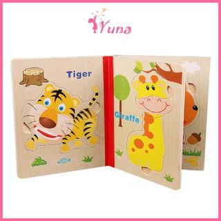 Yêu Thích+Sách gỗ ghép hình - Đồ chơi thông minh cho bé