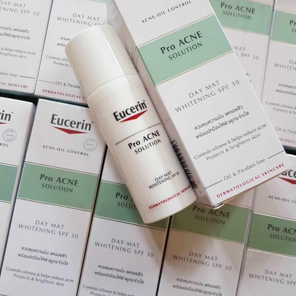 Kem Dưỡng Sáng Da Chống Nắng ProAcne Solution Day Mat Whitening SPF30 50ml - Eucerin