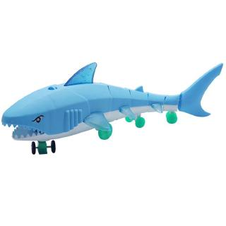 Kid Electric Pull Rope Shark Toy Universal Luminous Music Pull Rope Toy