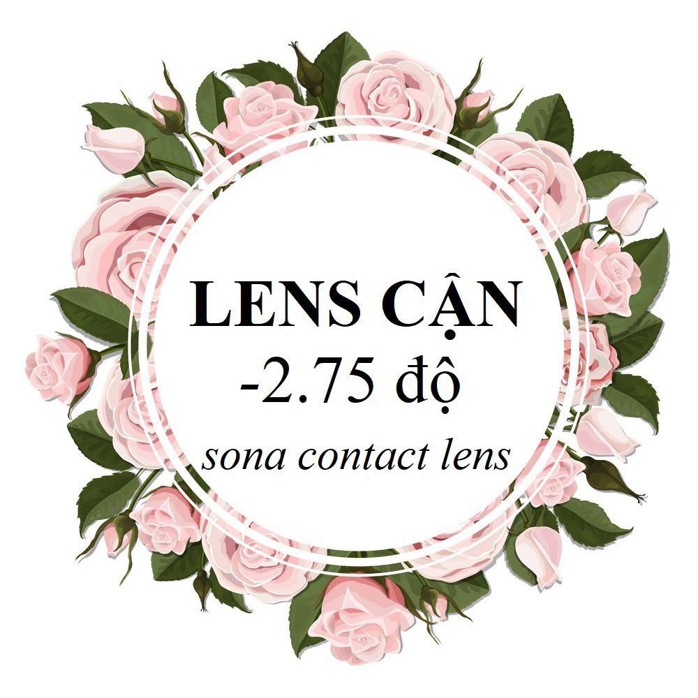 20 Mẫu LENS CẬN 2.75 Độ + khay đựng (kính áp tròng Sona Hàn Quốc)