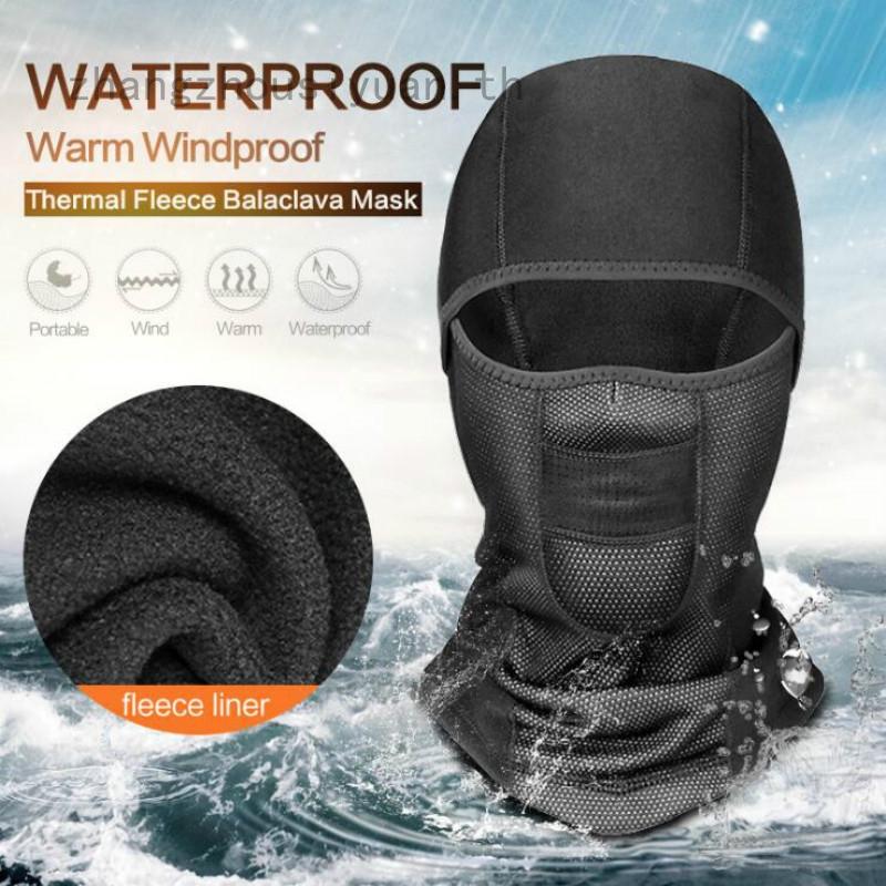 Warm Fleece Face Mask Anti-dust Waterproof Windproof Full Face Cover Hat
