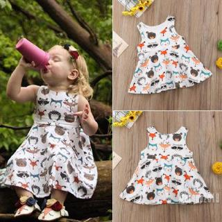 Mu♫-Fashion Newborn Kids Baby Girl Sleeveless Vest Dress Xmas Party Casual Clothes Gifts