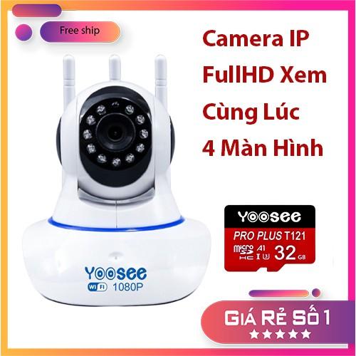 Camera IP Yoosee 1080P Xem Cùng Lúc 4 Màn Hình
