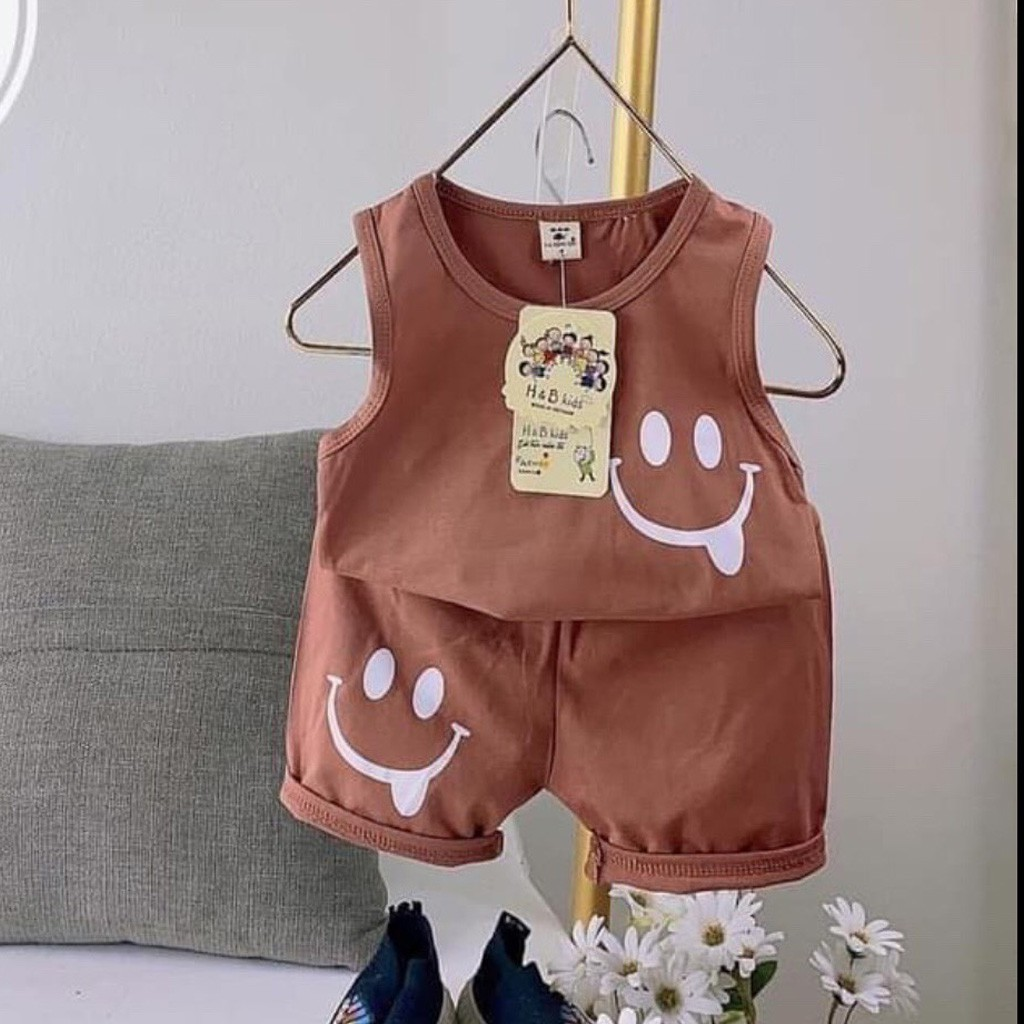Mặc gì đẹp: Gọn tiện với Đồ Bộ Ba Lỗ Mặt Cười Cho Bé Mặc Ở Nhà Cực Xinh - SUMO KIDS