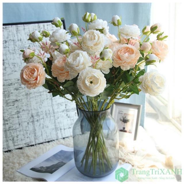Hoa Lụa Đẹp 🌺FREESHIP🌺 Giảm 10k Khi Nhập [ HOA GIA ] Hoa Giả Để Bàn Cao Cấp