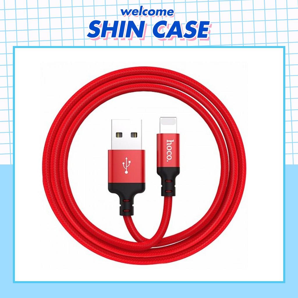 Dây Cáp Sạc Hoco X14 Chính Hãng Cho Điện Thoại IPad Pin Dự Phòng Tai nghe Bluetooth Airpods i12 Iphone - Shin Case