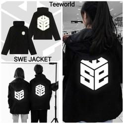 Áo Khoác dù Jacket  Form Rộng 2 Lớp Unisex Nam Nữ Hình In Sắc Nét S.WE (Kèm ảnh thật Shop tự chụp)