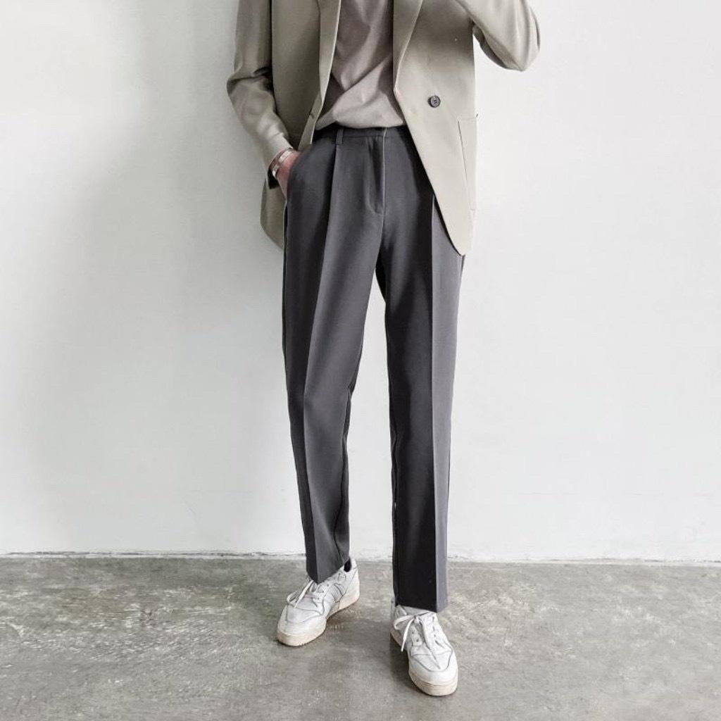 Quần baggy nam ống rộng vải Hàn cao cấp, co giãn phân loại tây âu Premium thời trang KIZAWA