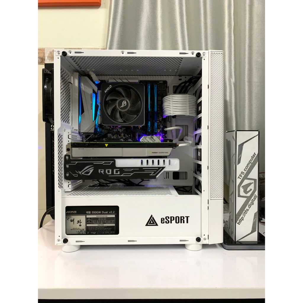 Bộ máy tính Ryzen 7-1700x 8C/16T Quadro 5000 chuyên 3D