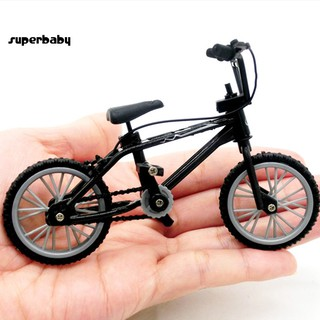 SBaby_Mini BMX Mountain Bike Bicycle Model Kids Toy Gift Ornament for 1/12 Doll House