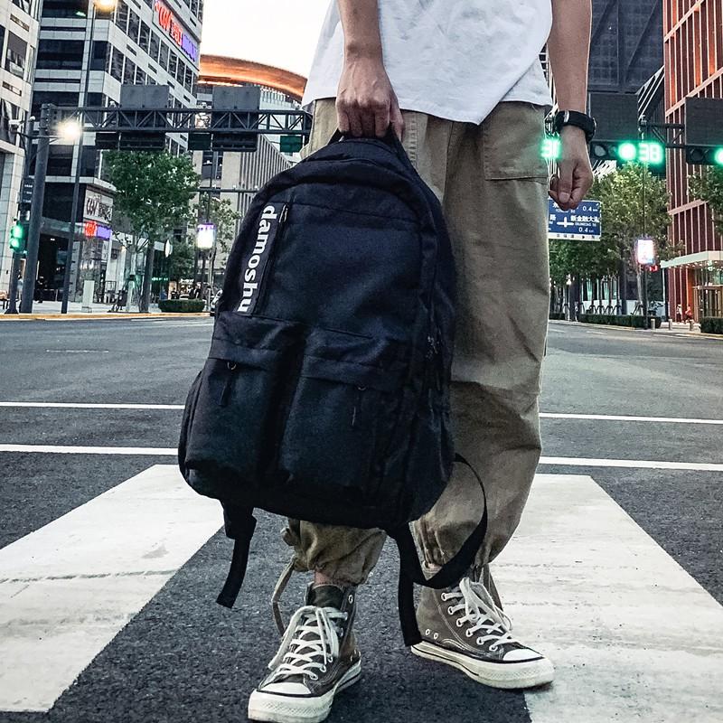 กระเป๋าแบรนด์ Tide ผู้ชาย2019 ใหม่ Oxford ผ้ากระเป๋าเป้สะพายหลังความจุขนาดใหญ่นักเรียนมัธยมกระเป๋าหลายชั้นผู้ชายกระเป๋าเ