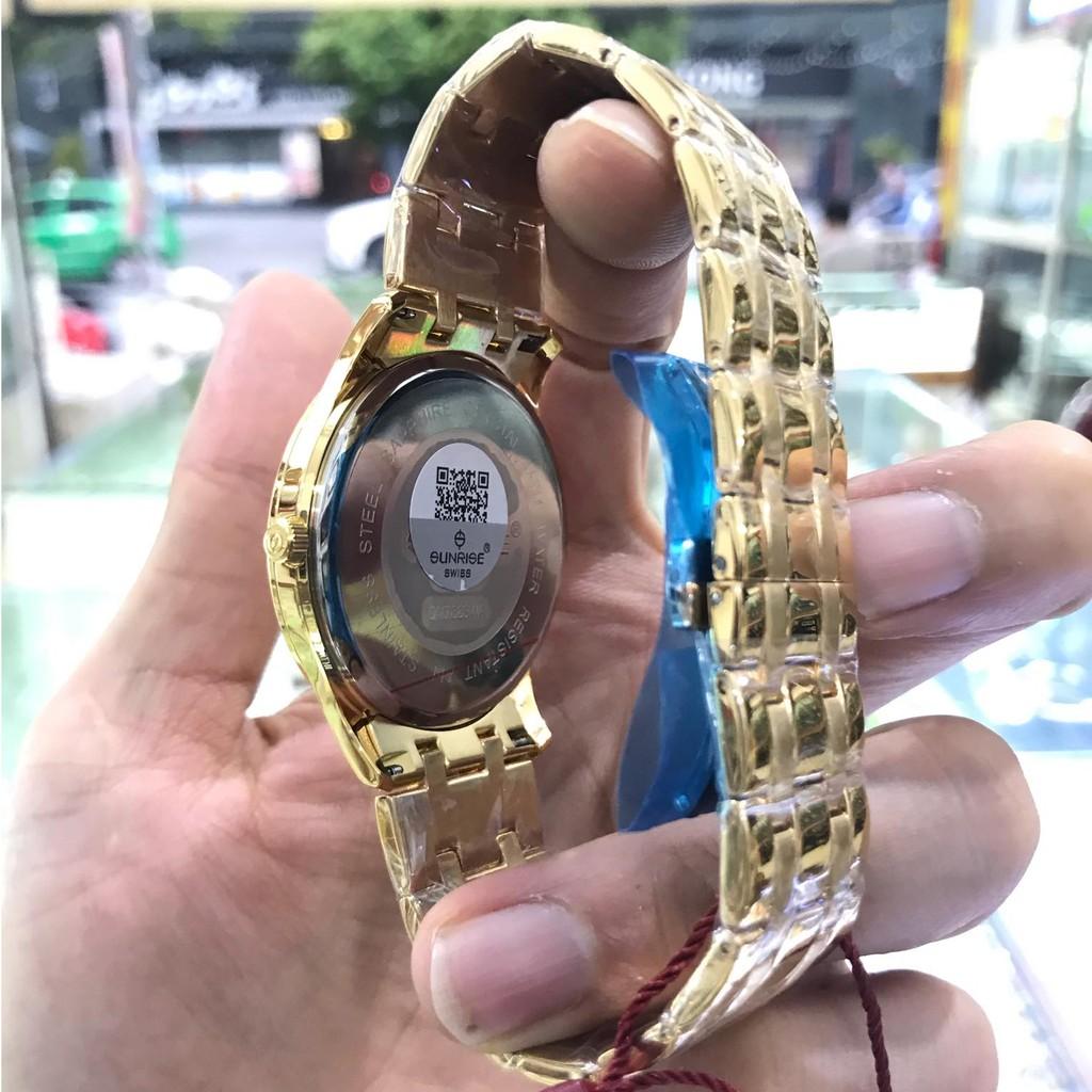 Đồng hồ nam SUNRISE 782SWAV Full hộp, thẻ bảo hành chính hãng, Kính Sapphire chống x