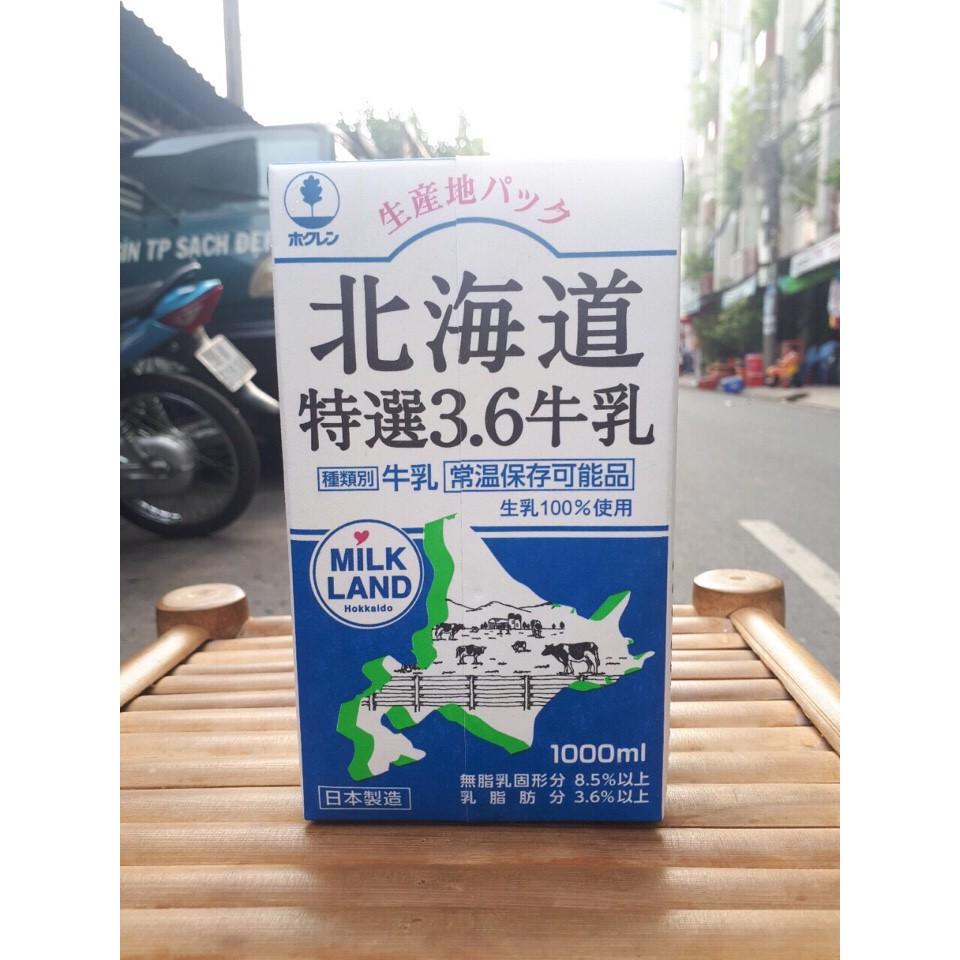 Sữa tươi nguyên chất tiệt trùng Hokkaido Specially Select 3.6 (1000ml)