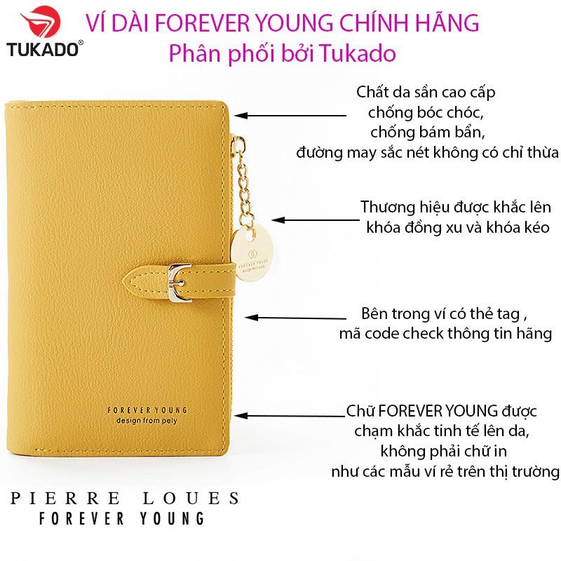 Ví Bóp Nữ Dài Cầm Tay FOREVER YOUNG Da Mềm Khóa Đồng Xu Độc Đáo FY01 - Tukado
