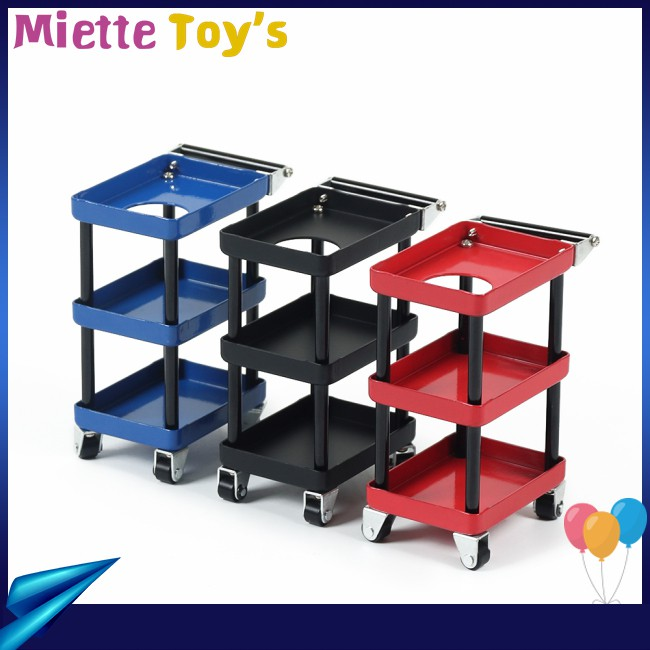 3 Layers Metal RC Car Tools Rack Maintenance Trolley RC Car 1/8 1/16 Spare for Parts 1/10 Maintenance 1/12