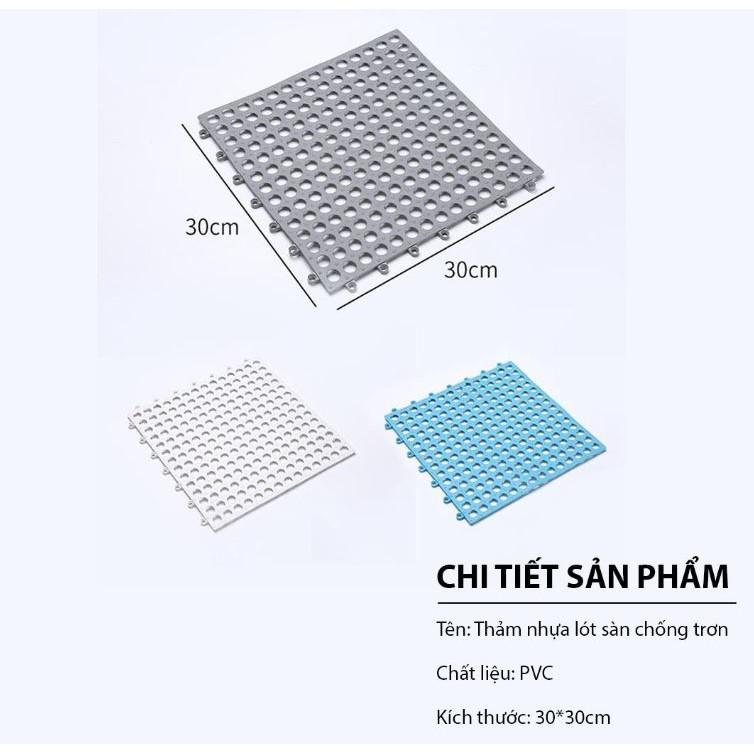Tấm Thảm Nhựa Kháng Khuẩn Chống Trơn Trượt Nhà Tắm Nhà Vệ Sinh