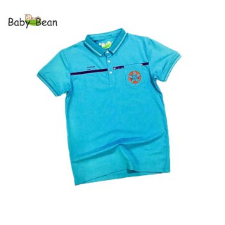 Áo thun Cotton có Cổ hình Ngôi Sao tay ngắn bé trai BabyBean