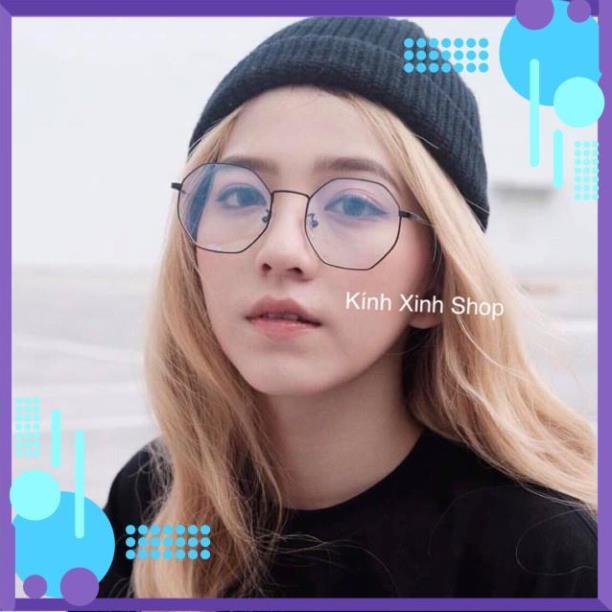 [ SALE ] Kính cận Gọng Kính Mắt vuông Vintage Kim loại KOREA - 2892