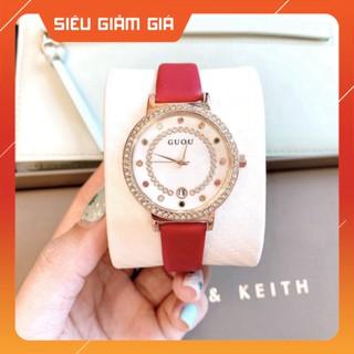 Đồng hồ nữ Guou mặt tròn dây da siêu bền , kiểu dáng thời thượng , trẻ trung