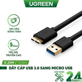Dây Micro USB 3.0 mạ vàng dài từ 0.25-2m UGREEN US130 dạng dây dẹt và tròn