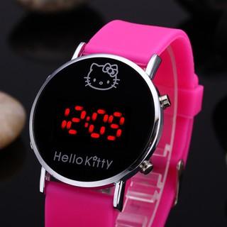Đồng Hồ Điện Tử Dây Silicone Hình Hello Kitty thumbnail