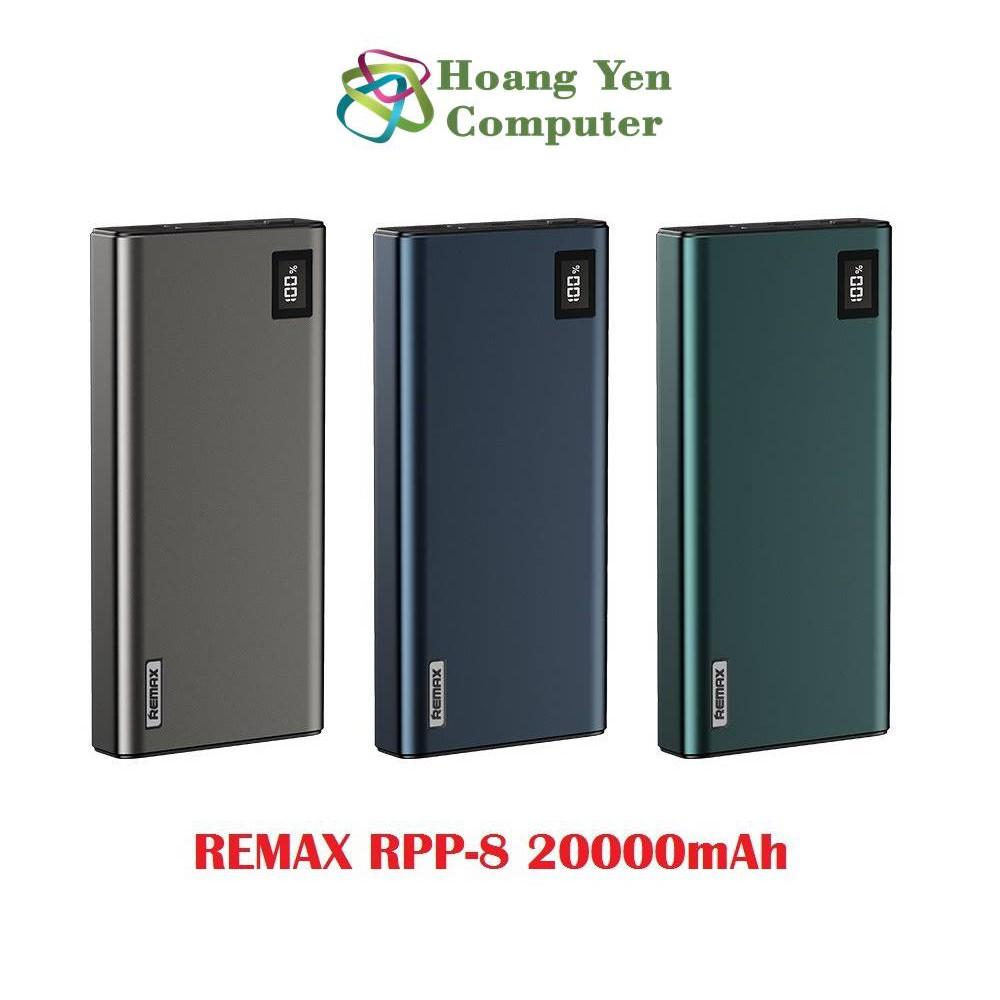 Sạc Dự Phòng Remax RPP-8 20000mAh QC3.0 Và Sạc Nhanh 2 Chiều Type C - BH 1 Năm