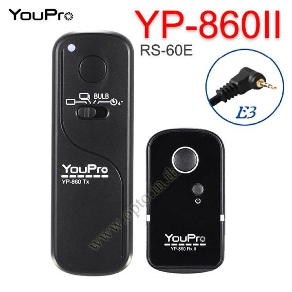 Camera YP-860II YouPro RS-60E3 Wireireless Remote 2.4GHz For Canon M6 M5 800D 760D 80D 77D รีโมทไร้สายamera YP-860II You